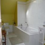 Gîte rural - salle de bain à l'étage